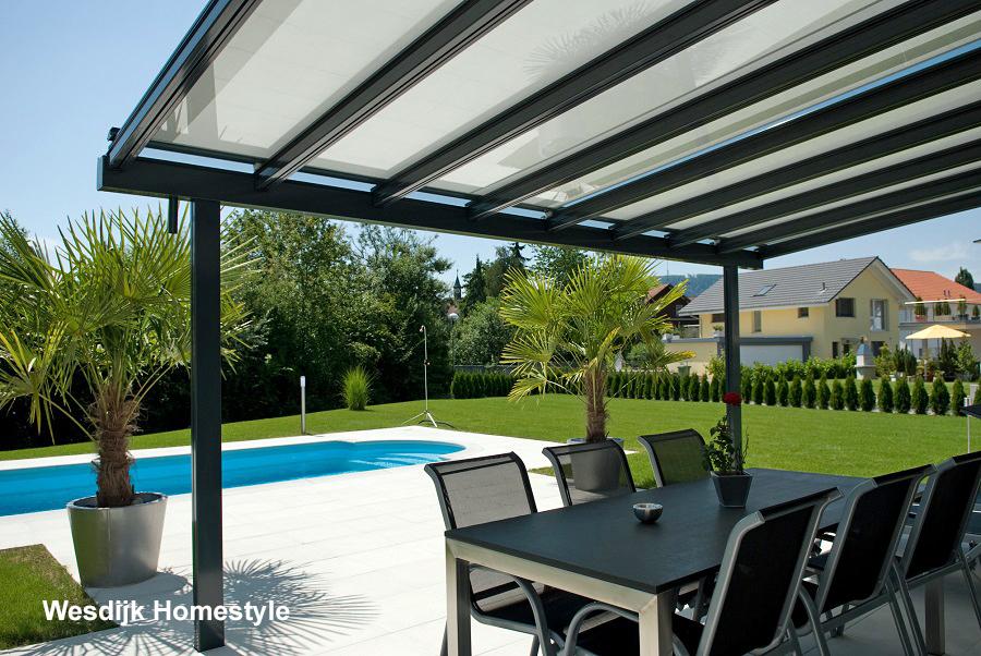 Terrasoverkapping glas met zonwering terrasoverkapping - Pergolas de aluminio para jardin ...