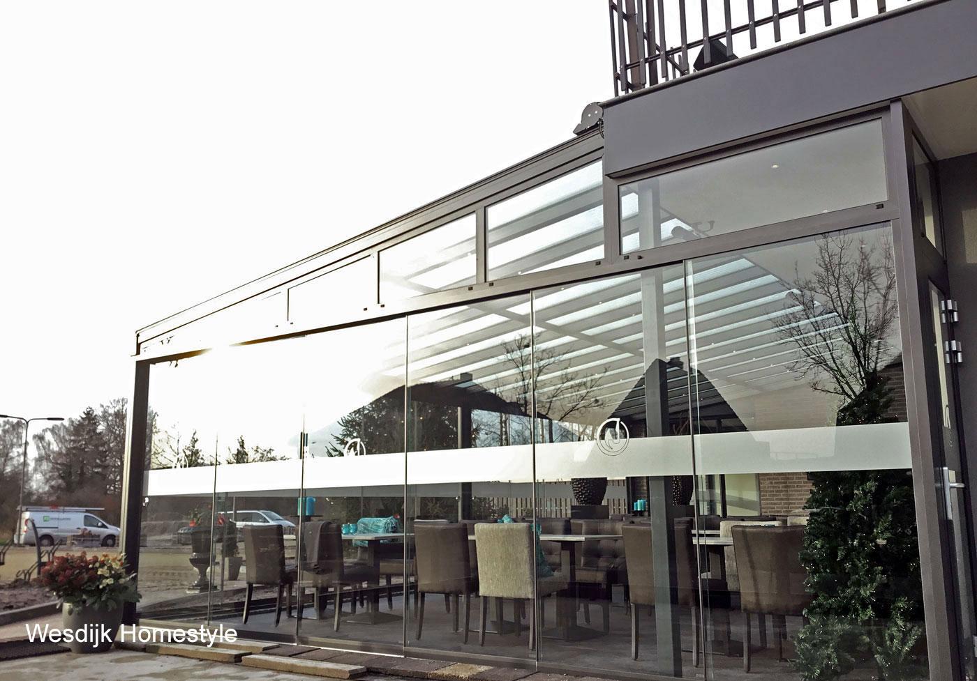 Horeca serre horeca terrasoverkappingen horeca terrasoverkapping serre showroom horeca - Overdekt terras voor restaurant ...